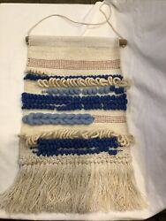 Cotton Macrame Wall Hanging LOVE Boho Bohemian Tapestry Scandinavian Swedish
