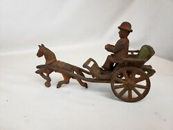 1890's Cast Iron Horse Doctor's Carriage By Wilkins Toy Company