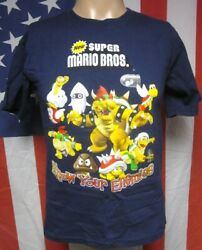 Super Mario Brothers Youth Xl Bowser Tee Nintendo Video-game T Shirt Blooper