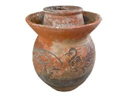 Old Asian Earthenware Pottery Storage Jar 11.75 H