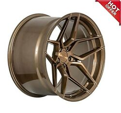 Front 20x10 Rear 20x11 Staggered Rohana Wheels Rfx11 Brushed Bronze Rims 5x112