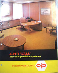 Jiffy-wall Cored Panels Inc Cement Asbestos Movable Partition System 1970's