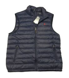 Polo Big And Tall Navy Water-repellent Packable Puffer Down Vest