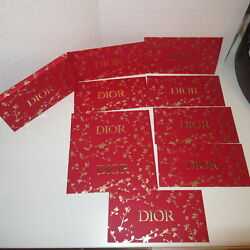 New Cd Christian Dior Chinese Year Red Set Of 8 Lucky Money Envelopes 6.75x3.5