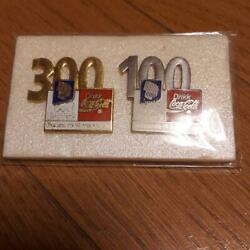Coca-cola Lillehammer Olympic Pin Badge 2 Pieces Vintage Rare