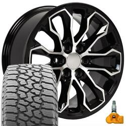 17 Black 5891 Wheels And Falken Wildpeak At Tire Set Fits Canyon And Colorado Zr2