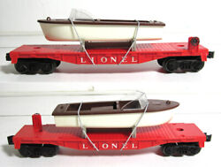 Lionel 6801 6801 Flat Car With Brown Boat
