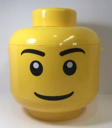 Yellow Lego Head Storage Sort And Store Large Case Container Carrying Holder