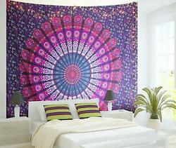 Mandala Tapestry Multicolored Printed Wall Hanging Decor Boho Tapestry Home Gift