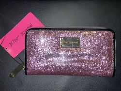 Betsey Johnson Wallet Wristlet Pink With Gold NEW WITH TAG $30.00