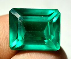 19.50 Ct Colombian Natural Green Emerald Ggie Certified Loose Gemstone F1206