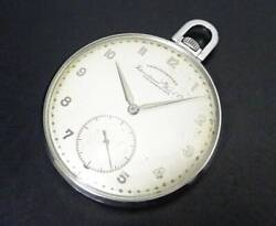 Antique Pocket Watch 97 Manual Winding Type Silver Dial 46mm Stainless Steel