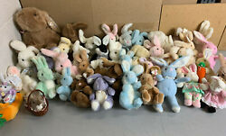 Lot Of 42 Gund Stuffed Animal Bunny Rabbits Plush Collection -vintage 80and039s 90and039s