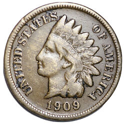 1909-s Indian Head Cent Penny Choice Vf Free Shipping E158 Wenm