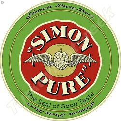 Simon Pure Beer 11.75 Round Metal Sign
