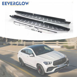 Side Step Fit For 2020 Mercedes Benz Gle Coupe Running Board Nerf Bar With Light