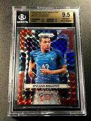 Kylian Mbappe 2018 Panini Prizm World Cup 80 Red Mosaic Rookie Rc All Bgs 9.5
