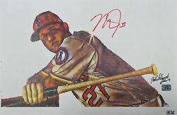 Mike Trout Signed Los Angeles Angels Of Anaheim 11x17 Print Mlb Vs023546