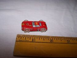 Vintage Tin Fire Chief Small Toy Car Marked Made In Japan W Plastic Wheels