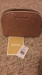 Michael Kors Black Travel Pouch Makeup Cosmetic Bag New Never Used With tags $55.00