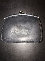 Womens Black Leather Fossil Wallets $54.99