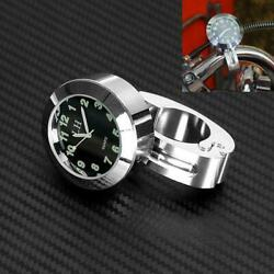 Chrome Universal 7/8and039and039 1and039and039 Cruiser Handle Bar Mount Clock Watch For Motorcycle