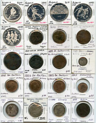 World Mix Coins 1500and039s-1900and039s Issue 20 World Coins Collection Rare And Nice Lot.