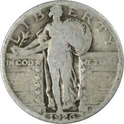 1926 Standing Liberty Quarter Ag About Good 90 Silver 25c Us Type Coin