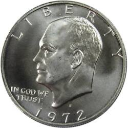 1972 S Eisenhower Dollar Bu Uncirculated Mint State 40 Silver Ike 1 Coin
