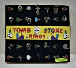 Tomb Stone Rings Assortment Old Gumball Vending Machine Display Card 82