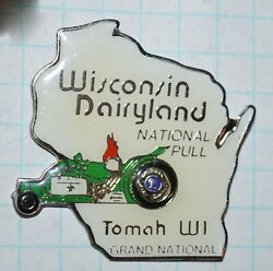 Wisconsin Dairyland Tomah Grand National Pull Tractor Green 1.5 Lions Lapel Pin