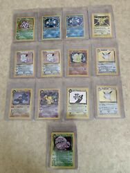 ***61 Card HOLO Lot*** Base Set Jungle Fossil And Team Rocket Great Condition $4000.00