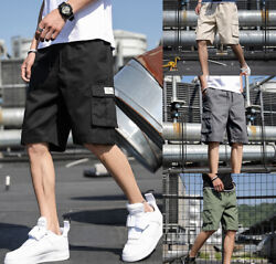 Men Casual Cargo Shorts Pants Multi Pockets Combat Summer Beach Trousers Fashion $19.99