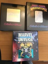 Lot Of Complete Marvel Universe Cards Series I Ii And Iii + Holo Cards + Albums
