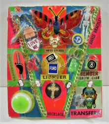Monster Transfer Ford Lighter Charm Toys Old Gumball Vend Machine Disp Card 190