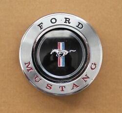 1965-66 Ford Mustang Pony Steering Wheel Original Deluxe Horn Button
