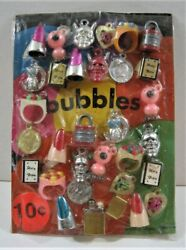 Bubbles Devils Lighter Rings Charms Toys Old Gumball Vend Machine Disp Card 233