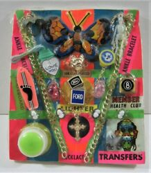 Ford Lighter Monster Transfer Charm Toys Old Gumball Vend Machine Disp Card 265