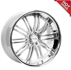 4ea 22 Staggered Xix Wheels X23 Silver Machine With Ss Lip Rims S21