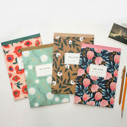 4pcs/set Flower Bloom - Writing Stationery Paper Pad Lined Letter Stationary