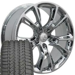 9113 Chrome 20 Wheel And Goodyear Tire Set Fit Jeep Grand Cherokee Srt8