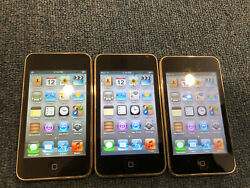 Lot Of 3x Apple Ipod Touch 3rd Generation 32 Gb - Bad Lcd A222