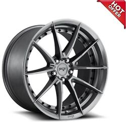 4ea 20x9/20x10.5 Staggered Niche Wheels M197 Sector Gloss Anthracite Rimss6