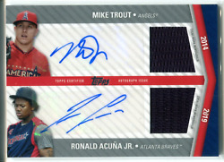 Mike Trout And Ronald Acuna Autographed 2020 Topps Update Series Card