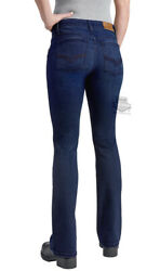 Harley-davidson Womens Boot Cut Mid-rise Performance Blue Jeans 99071-20vw