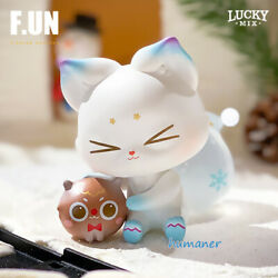 Lucky Mix White Fox Gingerbread Cute Lovely Character Figure Limited Model Toy