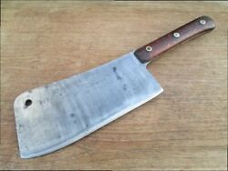 Big Antique F. Dick Butcher/chef's Carbon Steel Meat Cleaver Knife - Very Sharp