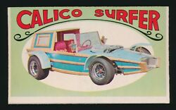 1970 O-pee-chee Way Out Wheels George Barris -1 Calico Surfer Wrong Back