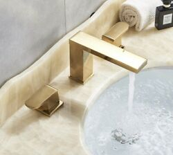 Senlesen Widespread Bathroom Faucet 3 Hole Two Handle Deck Mounted Sink Faucet