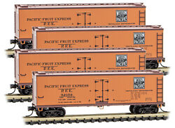 Micro-trains Mtl N-scale Wood Reeferes Western Pacific/wp - Runner 4-pack